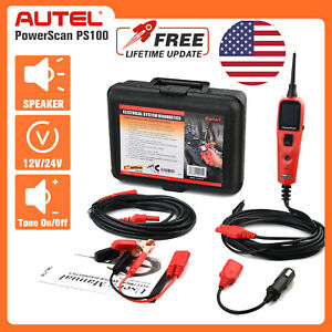 Autel Ps100 Powerscan Auto Diagnostic Tool Electrical Circuit Tester Test Leads