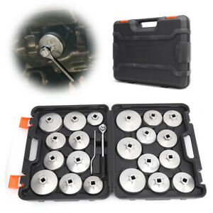 23pcs Oil Filter Removal Wrench Set Cup Cap Socket Garage Tool Fast Ship