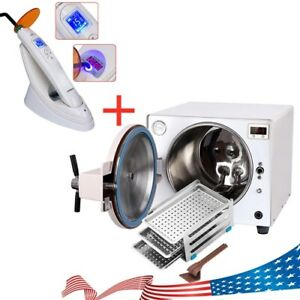 Autoclave Dental 18l Steam Sterilizer Medical Sterilization Curing Light Usa