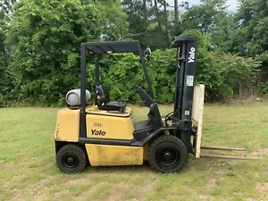 2005 Yale 5000 Forklift Solid Pneumatic Tires 3 Stage Lp Glp050 Sideshifter