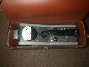Vintage H h Scott Type Sound Level Meter With Original Leather Case