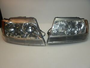 Jeep Grand Cherokee Wj 99 04 Headlight Pair Oem Free Shipping