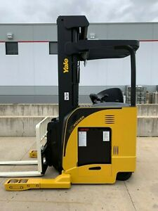 Yale Ndr035ea Electric Deep Reach Truck Narrow Aisle Lift Forklift Stand Up