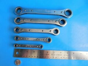 Used Mac Tools 5 Pc s Sae Flat Ratchet Wrench Set Made In The Usa