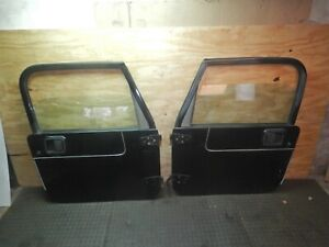 Jeep Wrangler Tj 97 06 Full Hard Door Pair Oem Freight Shipping