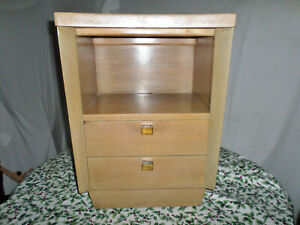 American Of Martinsville Mid Century Danish Modern Bedroom Night Stand Vtg X