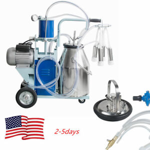 25l Electric Milking Machine Milker Goats With Bucket 304 Stainless Steel gift