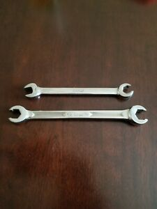 Snap On 7 16 Open Flare End 1 2 9 16 Flare Nut End Wrenchs Lot Of 2