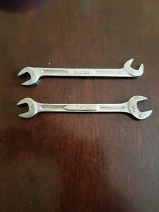 Snap On 3 8 4 Way Angle 3 8 7 16 Open End Wrenchs Lot Of 2