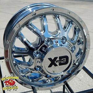 17 Chrome Xd Grenade Dually Wheels Rim Chevy Silverado Gmc 3500 Hd Diesel 8x210