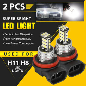 2pcs H11 H8 H9 30w High Power 30 Led Fog Light Driving Bulb Drl Lamp 6000k White