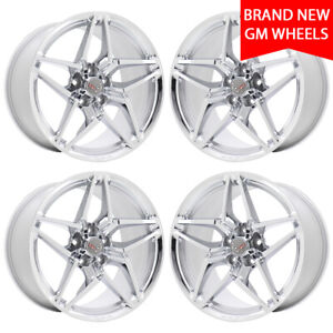 19 20 Corvette Zr1 Chrome Wheels Rims Factory Oem New Set 5927 5931 Exchange