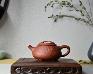Good Clay Chinese Yixing Zisha Clay Handmade Niugai Shipiao Teapot 220cc