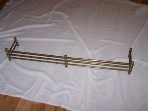 Vintage Brass 48 Fireplace Fender Rail Guard Surround Fence