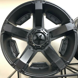 24 Inch Kmc Xd Series Xd81124267744n 6x135 6x139 7 44mm Wheels Rims Set A