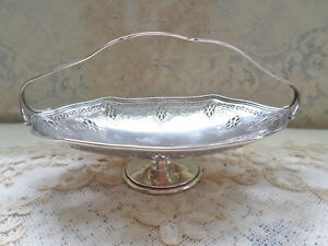 Whiting Sterling Silver 7 75 Inches Long Sweetmeat Bon Bon Basket Antique