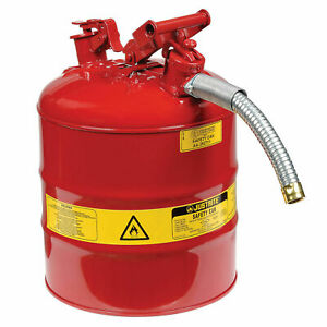 Justrite 7250130 Type Ii Accuflow Steel Safety Can 5 Gallon With 1 Metal