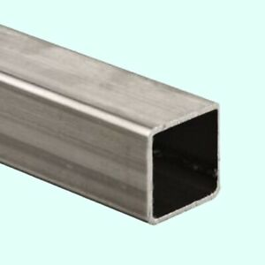 Stainless Steel Hollow Square Tube 1 1 8 I d X 1 1 4 O d X 6 Ft Long 304