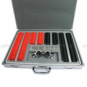 266 Pcs Optical Trial Lens Set Plastic Rim Aluminum Case 1 Free Trial Frame