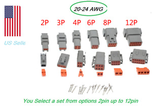 Gray Deutsch Dtm 2 3 4 6 8 12 Pin Connector Electrical Kit 20 24 Awg