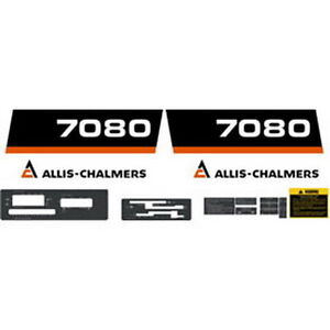 New 7080 Allis Chalmers Tractor 7080 Complete Decal Set High Quality Decals