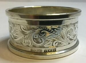 Vintage Solid 925 Sterling Silver Napkin Ring Henry Griffith Son 1972 14g