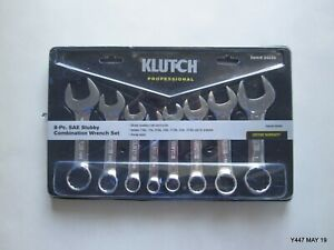 Klutch Sae Stubby Combination Wrench Set Pn 34530