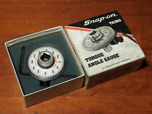 Snap On Torque Angle Gauge Ta360 Nice No Initials With Directions