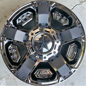 18 Inch Kmc Xd Series Black Chrome Xd81189050800 5x127 Wheels Rims Set A