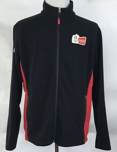 Coca-Cola Vancouver 2010 Olympics Black Full Zip Fleece Jacket Coat Size Large