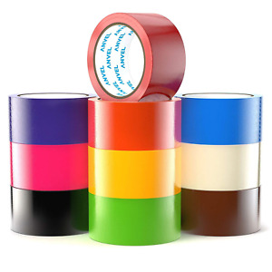 15 yards Multi Colored Duct Tape Variety Pack 10 Fun Colors Colorful Duck