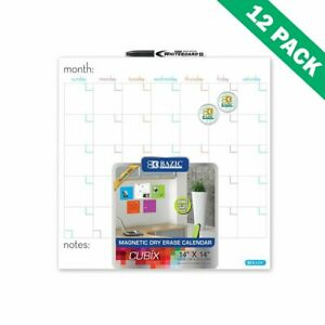 Calendar Dry Erase Office Wall 14x14 Magnetic Dry Erase Calendar Board Set Of 12