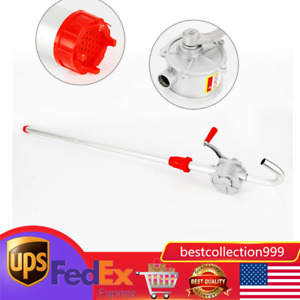 Self priming Hand Oil Pump 55 Gallons adjustable Bung Adpater 3 Suction Pipes Us