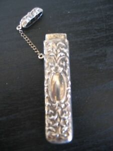 Sterling Silver Repousse Needle Case