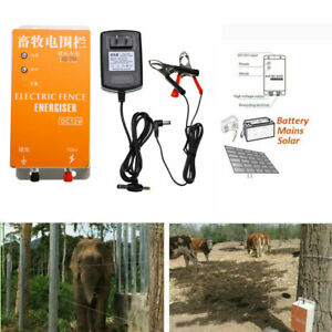 Dc 12v Solar Power Electric Fence Energizer Electric Fencing Charger Controller
