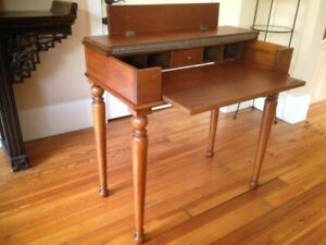 Antique Writing Desk Fold Out Perfectly Reconditioned