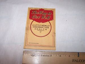 1914 1916 Nyal S Family Remedies Pocket Note Book Memo Pad W Product List Cure