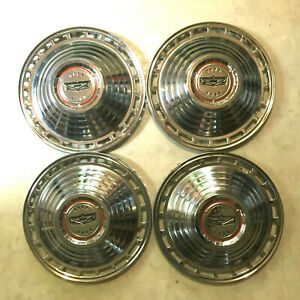 New 4 Vintage Ford Galaxie 14 Hubcaps 1964 Never Used