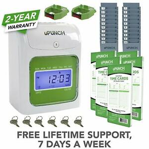 Time Clock For Employees Payroll Machine Punch In System Card Office Electronic
