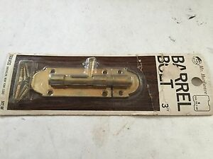 1 Brass Plate 4 Art Craft Victorian Cabinet Cupboard Door Slide Bolt Latch Lock
