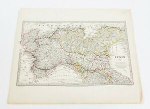 Antique 1832 Sduk Map Of Northern Italy By Baldwin Cradock
