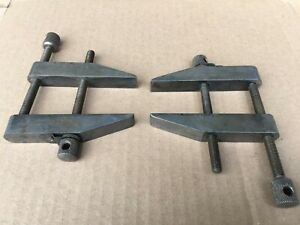 2 Starrett No 161 Parrallel Clamps Machinist Toolmaker Woodworking