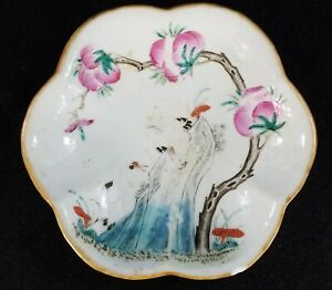 Antique Chinese Export Porcelain Footed Bowl