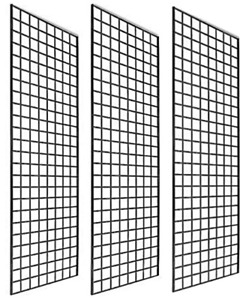 Only Garment Racks 1900b Box Of 3 Grid Panel For Retail Display Perfect Metal