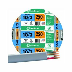 Southwire 250 10 3 Uf Electrical Wire By The Roll 13059155 250 Feet