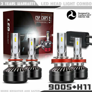 9005 h11 Combo Led Headlights High low Beam 6000k White 120w 12000lm Pr74