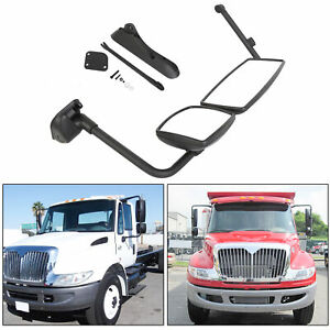 Door Mirror W Arm Black Cover Rh Passenger International Durastar Prostar 4300