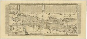 Antique Map Of Java By Chatelain 1718