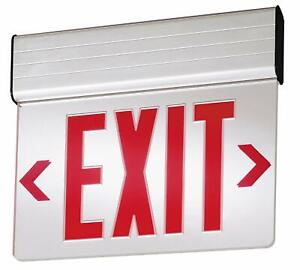 Lithonia Lighting Edg 1 R El M6 13 Red Led Lighted Exit Sign