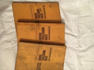 Set Of 3 Cat 3208 Industrial Engine Parts Books For Various Serial Numbers